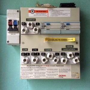 Position ved klar til brug - vaskemaskine er slået fra her men skal naturligvis aktiveres hvis den skal i drift.